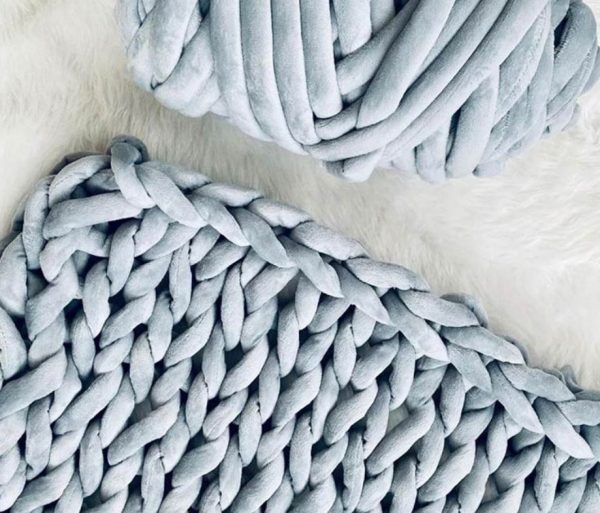 knitted weighted blanket